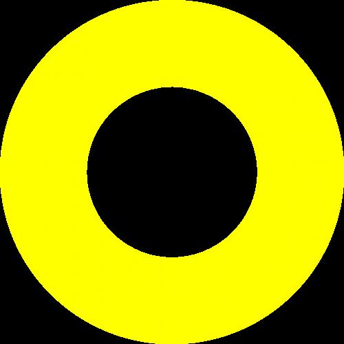 circle yellow
